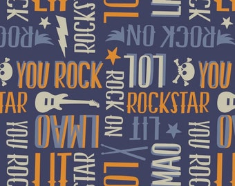 Rock Star, Guitar, music, Rock'n Roll, Rock On, 21200303, col 01, Camelot Fabrics, 100% Cotton, quilt cotton, designer cotton