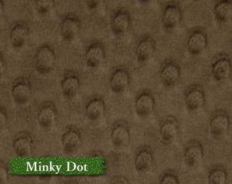 Minky Dot, Brown, 100% polyester, 60 inch, 150cm,