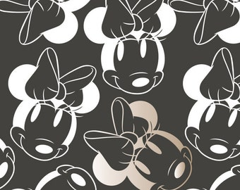 Disney, Minnie, black, white, gold, 85270206, col 3, Minnie Mouse Refresh, Camelot Fabrics, , 100% Cotton