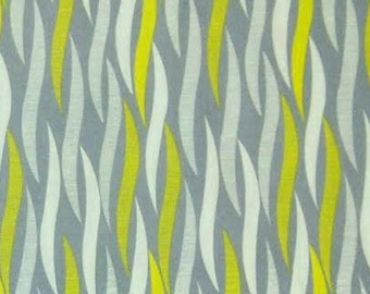 END OF BOLT, London Fog, 2141503, Camelot Cotton, gray, yellow, white, multiple quantity cut in one piece