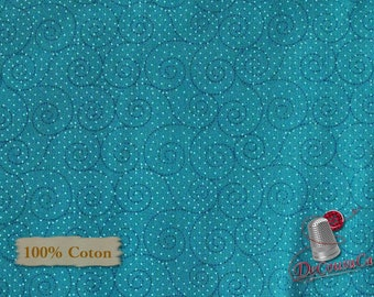 Turquoise, Basically Hugs, 25041, Red Rooster, multiple quantity cut in 1 piece, 100% Cotton, (Reg 2.99-17.99)