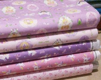 Bundle, 5 prints, Once Upon a Time of Camelot Fabrics, Quilt cotton
