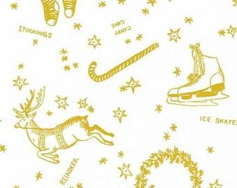 Patin, bas, canne, or, fond blanc, Andover, 8712, Camelot Fabrics, cotton, cotton quilt, cotton designer