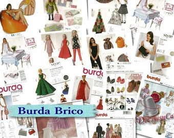 Burda, Brico, pouf, doll clothes, bag, new, uncut