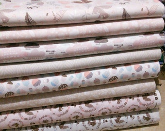 Bundle, 8 motifs, Watson in the wood of Camelot Fabrics, quilt cotton