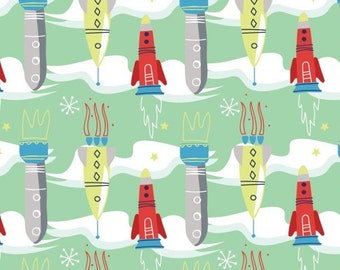 Rocket, Out of this world, 91180202, Camelot Fabrics, cotton, cotton quilt, cotton designer