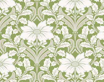 Fabric, Cotton, Poinsettia, Winter Rose, 9419, Andover