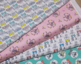 Bundle 4 prints, Dress to Impress of Camelot Fabrics, Quilt cotton, 1 of each