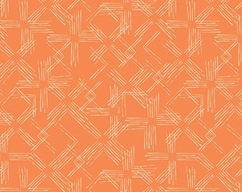Treillis, orange, 21180803, col 02, Flower Market, Camelot Fabrics, 100% Cotton