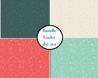 4 prints, Under the sea, 6141607, Camelot Fabrics, Bundle, 1 of each print, (Reg 15.96 - 71.96)