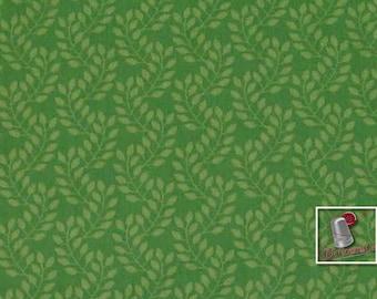 Flourish, 3240207, col 03, Ciana Bodini, Camelot Fabrics, leaf, minty, multiple quantity cut in one piece, 100% Cotton