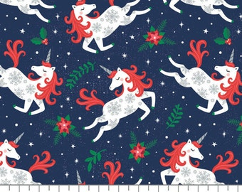 Holliday Unicorns, It's Always Unicorn Season, 89191103, col 01, fabric, cotton, quilt cotton
