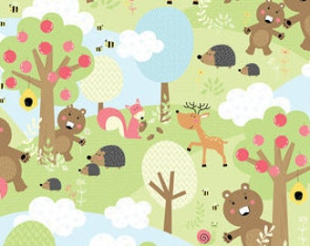 Forest scenic muti, Friendship Forest, 8946, 100% Cotton
