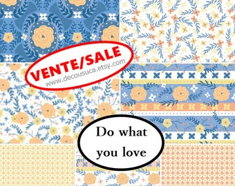 50%, Bundle, 7 prints, Do what you love, Alisse Courter, Camelot Fabrics, Bundle, 1 of each print, quilt cotton, (26.32-77.07)