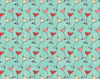 Cocktail, City Girl, 26180103J, col 01, Camelot Fabrics, 100% Cotton, (Reg 2.99 - 17.99)