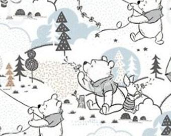 Cloud and Kites, Winnie The Pooh, white, 85430401, Camelot Fabrics, cotton, cotton quilt, cotton designer