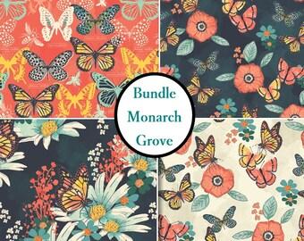 4 prints, Monarch Grove ,Camelot Fabrics, 100% Cotton, (Reg 21.16 - 91.90)