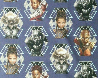 Wakanda Warriors, Marvel, Black Panther, 18081, Spring Creative, cotton quilt, cotton designer