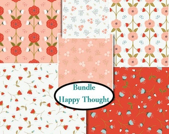 6 FQ, 1/4 yard, 1/2 yard, 1 of each, Happy Thoughts, Camelot Fabrics, 100% cotton,(Reg 23.94 - 107.94)
