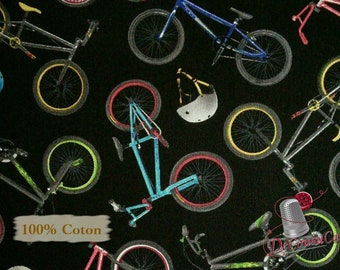 Bike, bicycle, Black Background, Elizabeth's Studio, 100% Cotton, (Reg 2.99-17.99)