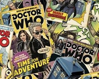 Doctor Who, Comic Book, Springs Creatives, CP61772, 100% Cotton, quilt cotton
