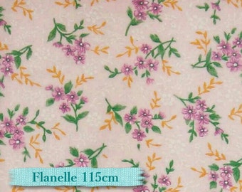 Flower purple, orange, pink, Flannel 100% high quality cotton
