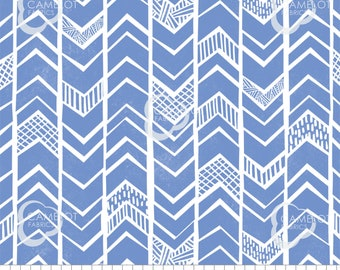 Chevrons, blue, Mod Blocks, 27180110, col 05, Camelot Fabrics, 100% Cotton, quilt cotton, (Reg 2.99-17.99)