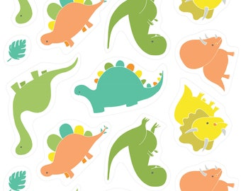 6 Dino plush cut-outs, 1 of each motif, You are Dino-Mite, 6141701-01, Camelot Fabrics, 100% Cotton