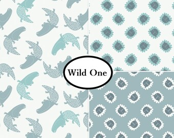 VENTE, 3 prints, 1 of each, Wild One, Camelot Fabrics, 100% cotton