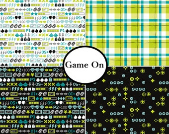 4 prints, Game On,Camelot Fabrics, 100% Cotton