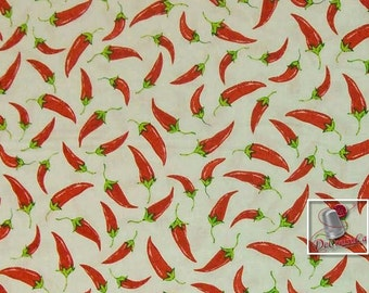 Cinco de Mayo, by Greta Lynn for Kansas, piment, white, Multiple quantity cut in one piece, 100% Cotton, (Reg 2.99 - 17.99)