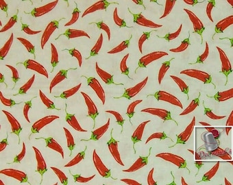 Cinco de Mayo, by Greta Lynn for Kansas, piment, white, Multiple quantity cut in one piece, 100% Cotton