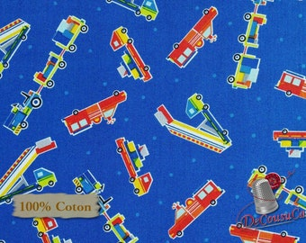 Truck, Air Show, by First Studio,, Henry Glass & Co, multiple quantity cut in 1 piece, 100% Cotton