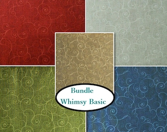 5 colors, Whimsy Basic, Henry Glass & Co, 1 of each print