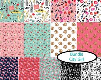 Bundle, 13 prints, City Girl, Camelot Fabrics, (Reg 34.38 - 298.87)