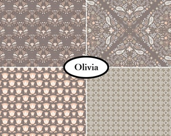 4 prints, Olivia, Camelot Fabric, 1 of each print