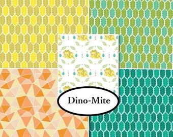 VENTE, 5 prints, You are Dino-Mite, Camelot Fabrics, 100% cotton