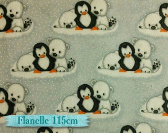 50%, Flannel, Penguin, A.E. Nathan Comfy Flannel, many yards will be cut as one piece