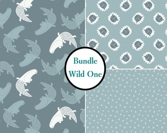3 prints, 1 of each, Wild One, Camelot Fabrics, cotton