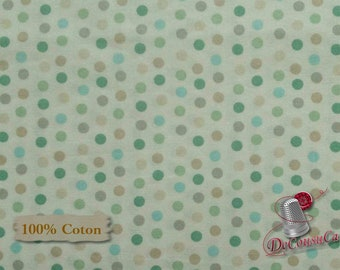 Dots, white, Nature, Édition Fabric, multiple quantity cut in one piece, 100% Cotton,