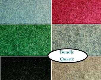6 FQ, 1/4 yard, 1/2 yard, 1 of each, Quartz, P&B Textiles, 100% cotton