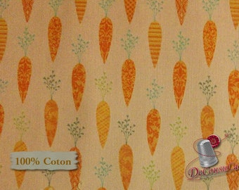 Carrot, Bunny Tales, Lucie Crovatto, Studio e, 3552, multiple quantity cut in one piece, 100% Cotton, (Reg 2.99 - 17.99)