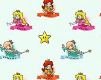 Princesse, Mario, Nintendo, Springs Creatives, CP65870, 100% Cotton, quilt cotton