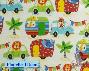 Flannel, Camping, A.E.Nathan, white, many yards will be cut as one piece, Flannel 100% high quality cotton