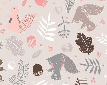 Wandering watson, grey, Watson in the woods, 31180101, col 02, Camelot Fabrics, 100% Cotton, (Reg 2.99-17.99)