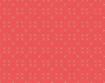 Stitch, Strawberry Honey, C10246, CAYENNE, Riley Blake, cotton quilt, cotton designer