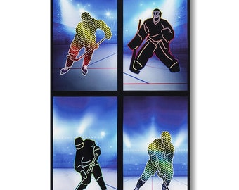 "Panel, 24""X44"", Hockey, 19144, Robert Kaufman, 100% Cotton"