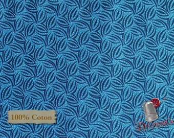Royal, Indigo Cottage, 2119, Henry Glass & Co, multiple quantity cut in 1 piece, 100% Cotton, (Reg 2.99-17.99)