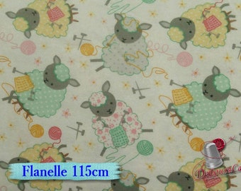 Flannel, Sheep, knit, wool, many yards will be cut as one piece, Flannel 100% high quality cotton