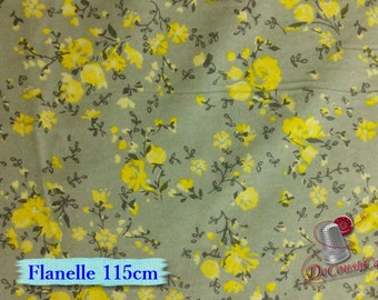 Flannel, Flower, yellow, LAURA ASHLEY, Camelot Fabrics, many yards will be cut as one piece, Flannel 100% high quality cotton